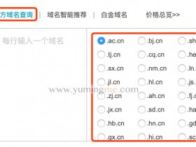 注册.cn地方域名的方法(省份域名)